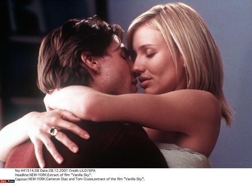 Tom Cruise e Cameron Diaz  no filme Vanilla Sky