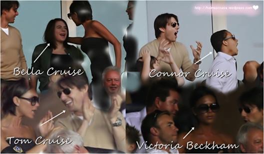 Tom Cruise,  Bella Cruise, Connor Cruise e Victoria Beckham