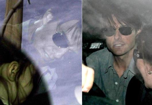 Tom Cruise, Suri e Katie Holmes viajam de jatinho para a Austrália