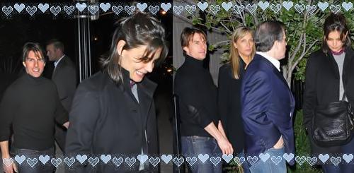Katie Holmes, Tom Cruise e amigos
