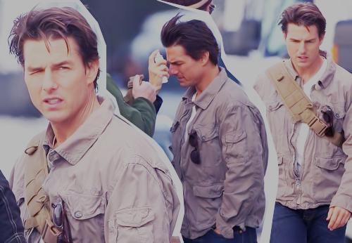 Tom Cruise gravando o filme
